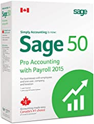 Sage 50 Pro with Payroll Accounting 2015 Canadian Edition
