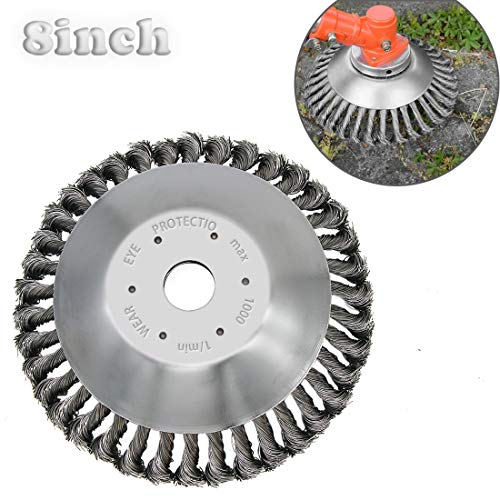 IRmm Steal Wire Brush Cutter Trimmer Head Replacement Garden Grass Weed Brush Cutting Head for Rust Removal,Paving Stone, Pavement Joints or Driveway (Adaptor Kits not Included)