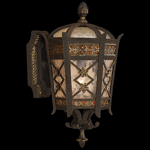 Fine Art Lamps 404781, Chateau Outdoor Wall Sconce Lighting, 60 Total Watts, Patina - Chateau Rustic Sconce