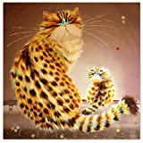 TianMaiGeLun Full Drill 5d Diamond Painting Kits Cross Stitch Craft Kit New DIY Kits for Kids Adults Paint by Number Kits (Cat, 30x30cm, Square Drill)