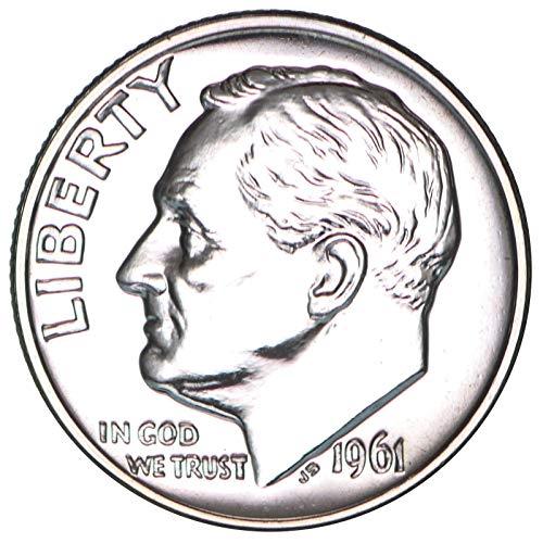 1961 Roosevelt Dime 90% Silver Gem Proof