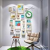 Photo wall green clocks portfolio photo frame wall flower bird decorative frame small fresh photo wall 5 Inch 7 Inch 10 Inch 14 Inch ( Color : Original white )
