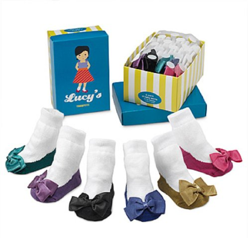 Trumpette 6 Pair Sock Set - Lucy-12-24 Months