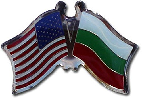 ALBATROS USA American Bulgaria Flag Bike Motorcycle Hat Cap Lapel Pin for Home and Parades, Official Party, All Weather Indoors Outdoors ()