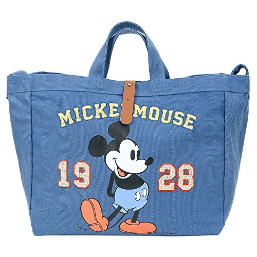 Tote ililily Body Vintage Multi Mickey Disney Shoulder purpose Cross Mouse Blue Bag SqBzOUw6Sx