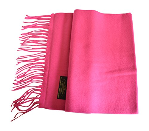 Annys 100% Cashmere Scarf 12 X 72 with Gift Bag (Hot Pink)