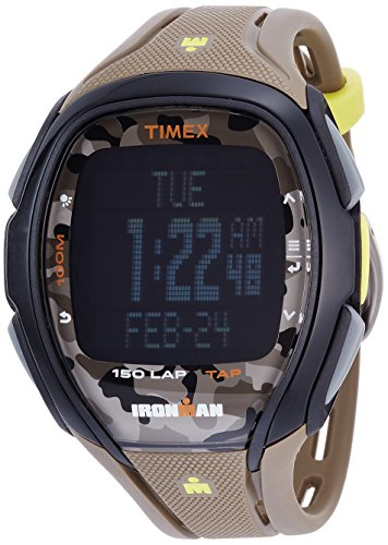 Timex TW5M01100 Ironman 150-Lap Full Size Sleek Camo Resin Strap Chronograph (150 Lap Sleek Watch)