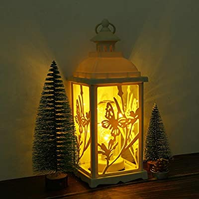 Iron Metal Lantern Stand Hanging Candlestick Glass Candle XMAS Ornament