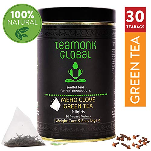 Nilgiri Fruit Clove Green Tea, 30 Teabags | Supports Weight Loss & Digestion | 100% Natural Clove with Whole Leaf Green Tea | No Additives