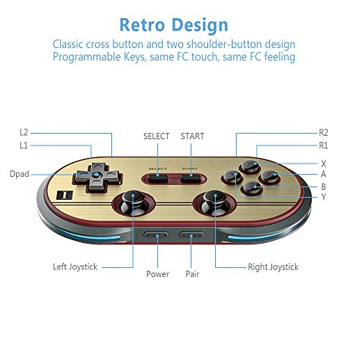 8Bitdo F30 Pro Wireless Bluetooth Controller Game Gamepad Retro Styled for Android / MacOS / Windows by RunSnail (Image #1)