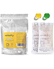 wisedry 50 Gram [6PACKS] Rechargeable Silica Gel Desiccant Packets Fast Reactivate Desiccant Bags Orange to Green indicating for Air Dryer Food Grade