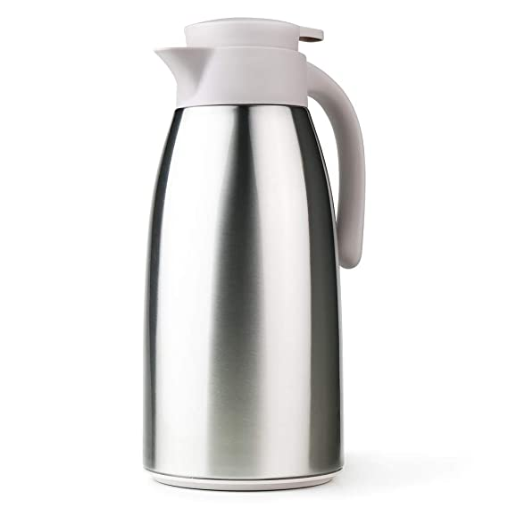 Amazon.com: Stainless Steel Coffee Carafe Thermos 64oz with ...