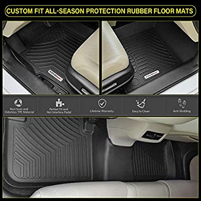 YITAMOTOR Floor Mats Compatible with Tahoe/Yukon, Custom fit Floor Liners for 2015-2020 Chevrolet Tahoe/GMC Yukon, 1st & 2nd Row All Weather Protection: Automotive