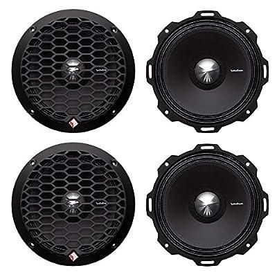 """4) Rockford Fosgate PPS4-6 6.5"""" 800 Watt 4-Ohm Midrange Car Loudspeakers Speaker"""
