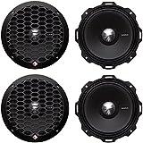 4) Rockford Fosgate PPS4-6 6.5 800 Watt 4-Ohm Midrange Car Loudspeakers Speaker