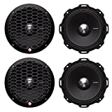 4) Rockford Fosgate PPS4-6 6.5'' 800 Watt 4-Ohm Midrange Car Loudspeakers Speaker