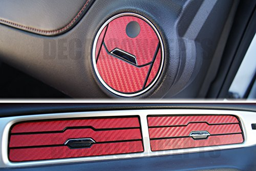- Camaro RED Carbon Fiber Interior Vent Decal kit (2010-2015)
