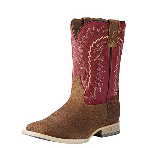 Kids' Relentless Elite Western Boot, Tan Oiled Gaucho, 3 M US Little Kid