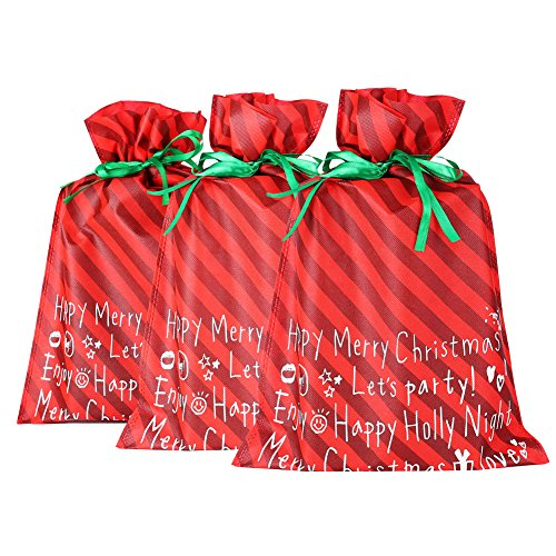 MissShorthair Christmas Holiday Gift Bags Large (3 Packs)