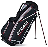Strata Men's Golf Club Stand Bag Red Black (Bag Only)