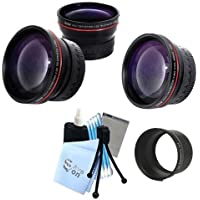 Vivitar Series 1 RedLine Bundle HD 2.2X Telephoto Lens & HD 0.43X Wide Angle Lens w/ Complete Cleaning Kit for Panasonic LX3 LX5 GX1 Cameras