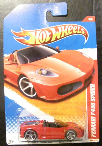 (Hot Wheels 2011 Ferrari F430 Spider, 190/244 Thrill Racers - Highway 4/6, 1:64 Scale (Red))
