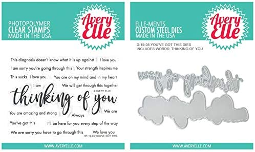Avery Elle Youve Got This Encouraging Clear Stamps and Dies Set