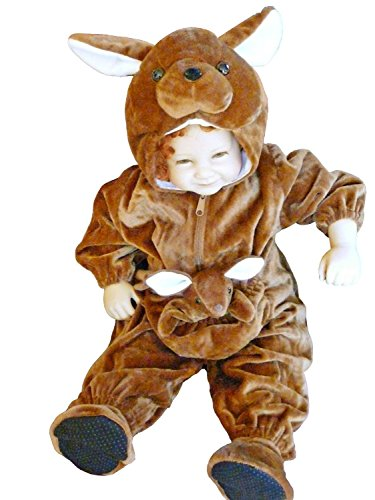 Party City Halloween Costumes For Babies (Fantasy World Kangaroo Halloween Costume f. Toddlers/Boys/Girls, Size: 3t, F53)