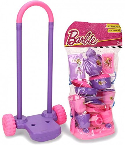 Buy Barbie My Pinktastic Trolley Kitchen Set 21 Pieces Online At