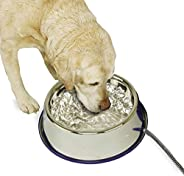 K&H Pet Products Thermal-Bowl Stainless Steel 102 Oz. 25 W