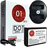 DOT-01 Brand Canon EOS 4000D Battery and Dual Slot USB Charger for Canon EOS 4000D DSLR and Canon 4000D Battery and Charger Bundle for Canon LPE10 LP-E10