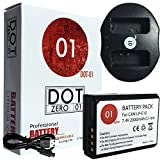 DOT-01 Brand Canon EOS Rebel T7 Battery and Dual Slot USB Charger for Canon EOS Rebel T7 DSLR and Canon T7 Battery and Charger Bundle for Canon LPE10 LP-E10