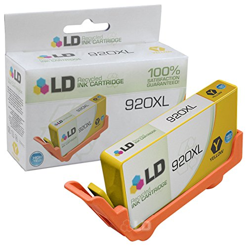 LD © Remanufactured Replacement for Hewlett Packard CD974AN (920XL / 920) High-Yield Yellow Ink Cartridge for OfficeJet 6000, 6500, 6500a, 6500a Plus, 7000 & 7500a