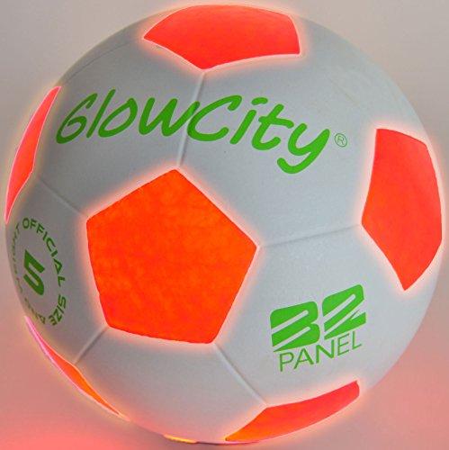 Heico Soccer Ball Lamp: Uses 2 Hi-Bright LED Lights, Size 5