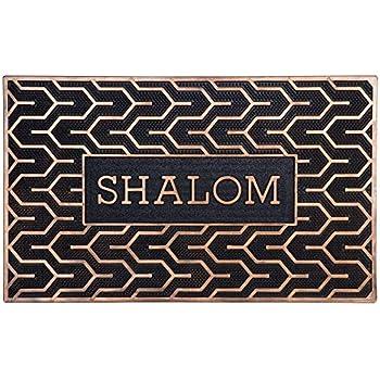 Israel Gifts Judaica Shalom Door Mats Welcome Mats Rubber Mats Jewish Symbols of Peace 30