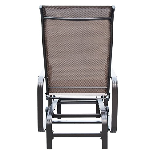 PatioPost Sling Glider Outdoor Patio Chair Textilene Mesh Fabric, Mocha by PatioPost (Image #4)