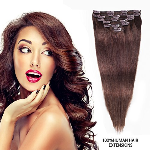 Clip In Hair Extensions Remy Human Hair Extensions Thick Clip In Human Hair Extensions 8pcs 100g