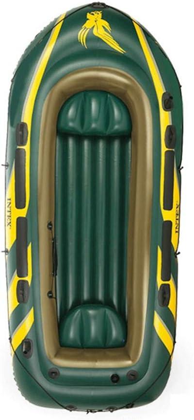 インフレータブルボート釣り船4人ホバークラフト厚化アップグレード強力耐荷重大型エアバッグ A