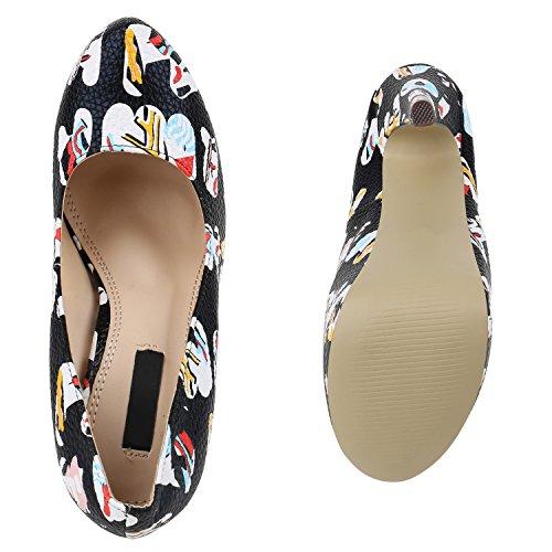 Heels Lack Schuhe Brito Absatzschuhe Stiefelparadies Pumps Plateau Schwarz Plateauschuhe Hohe Stiletto High Damen Extra Flandell Party xwnSABqXpF