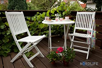 outdoor furniture white. Sao Paulo Garden Furniture Set Acacia Wood FSCPUR White Outdoor