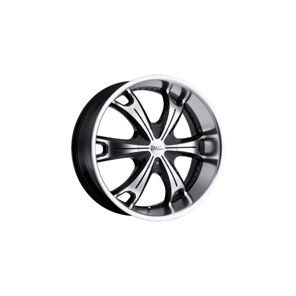 Milanni Stellar 17 Machined Black Wheel / Rim 6x5.5 with a 18mm Offset and a 110 Hub Bore. Partnumber 452 7883MF18