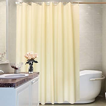 A Tradinf Shower Curtain Liner With Hooks Fabric Mildew Resistant Anti Bacterial Waterproof Non