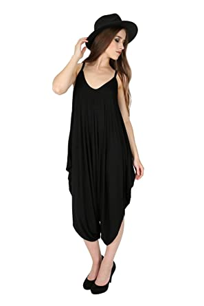 35e51845f729 Oops Outlet Women s Thin Strap Lagenlook Romper Baggy Harem Jumpsuit  Playsuit  Amazon.ca  Clothing   Accessories