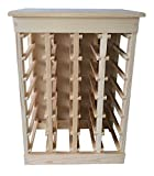 Radel Wood Products Pine Wine Rack with Solid Top, 24 Bottle