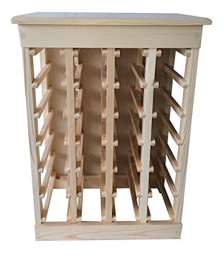 Wood Top Wine Rack - 2