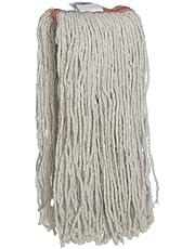 Rubbermaid Commercial Premium Cut-End Cotton Mop, 16-Ounce Size, 1-Inch Orange Headband, White (FGF11600WH00)