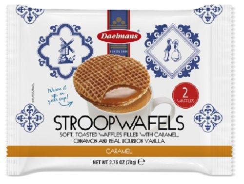 Daelmans Stroopwafels, Caramel, 2.75 oz  (12 Count Display Box)