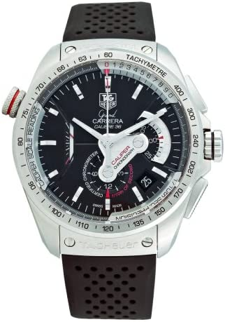 TAG Heuer Men s CAV5115.FT6019 Grand Carrera Automatic Chronograph Black Dial Watch