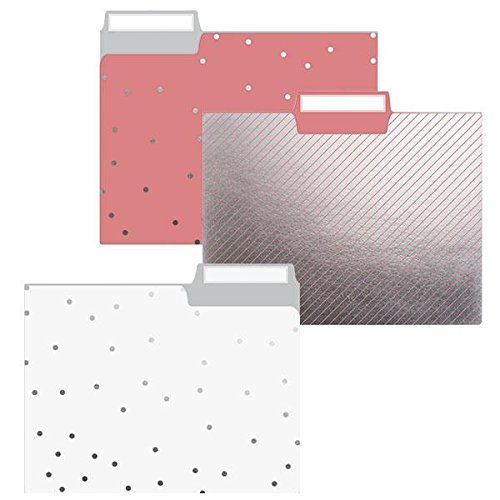 Graphique Sweet Dots File Folder Set - Includes 9 Folders and 3 Designs, Embellished with Gold Dots on Durable Triple-Scored Coated Cardstock, 11.75 x 9.5 11.75 x 9.5 Graphique de France FIF019