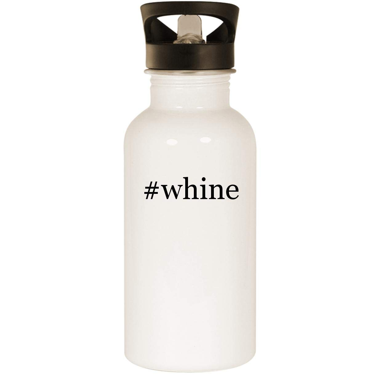 #whine - Stainless Steel 20oz Road Ready Water Bottle, White